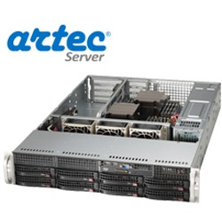 RACK ARTEC 2U DUAL XEON E5 (AS2R-C612H08SA) 64GB/14 TB