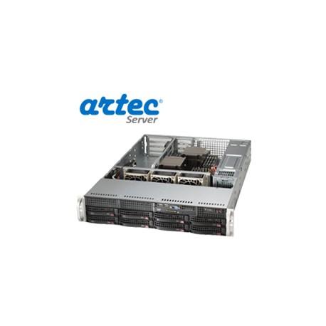 RACK ARTEC 2U DUAL XEON E5 (AS2R-C612H08SA) 16GB/4X1TB