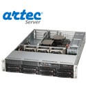 RACK ARTEC 2U DUAL XEON E5 (AS2R-C612H08SA) 64GB/16 TB