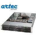 RACK ARTEC 2U DUAL XEON E5 (AS2R-C612H08SA) 64GB/32 TB
