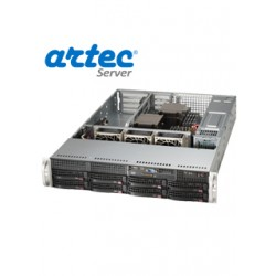 RACK ARTEC 2U DUAL XEON E5 2.4 (AS2R-C612H08SA) 128GB/8X4TB