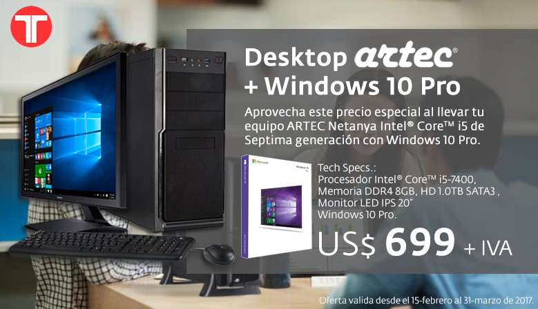 Desktop Artec + Windows